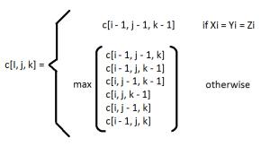 Problem Longest Common Subsequence dengan Tiga Sekuen
