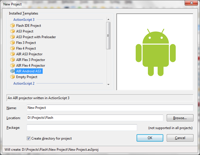 AIR Application on Android using FlashDevelop | Azerdark